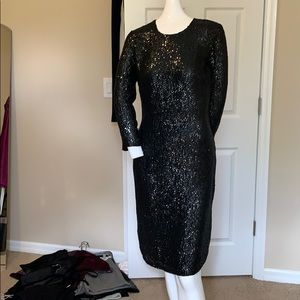 NAEEM KHAN SILK BEADED DRESS LINED orig $ $1900.